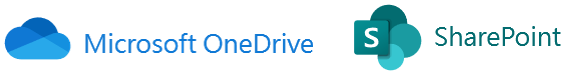 Microsoft OneDrive and SharePoint logo